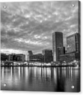 Baltimore In Black And White Acrylic Print by JC Findley