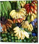 Banana Display. Acrylic Print by Jane Rix
