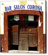 Bar Salon Corona Acrylic Print by Mexicolors Art Photography