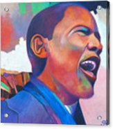 Barack Obama Acrylic Print by Glenford John