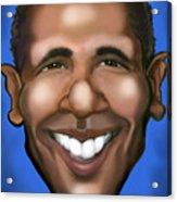 Barack Obama Acrylic Print by Kevin Middleton