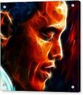 Barack Obama Acrylic Print by Pamela Johnson