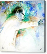 Barack Obama Pointing At You Acrylic Print by Miki De Goodaboom