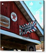 Barber - Old Barber Shop Sign Acrylic Print by Paul Ward