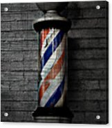 Barber Pole Blues  Acrylic Print by JC Photography and Art