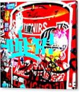 Barcelona Street Graffiti Acrylic Print by Funkpix Photo Hunter