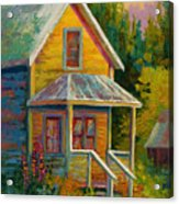 Barkerville Orphan Acrylic Print by Marion Rose