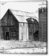 Barn And Silo Distressed Version Acrylic Print by Joyce Geleynse