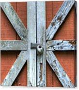 Barn Door 1 Acrylic Print by Dustin K Ryan