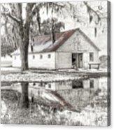 Barn Reflection Acrylic Print by Scott Hansen