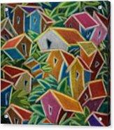 Barrio Lindo Acrylic Print by Oscar Ortiz