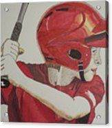 Baseball Ready 2 Acrylic Print by Michael Runner