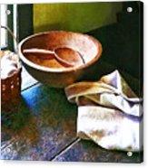 Basket Of Eggs Acrylic Print by Susan Savad