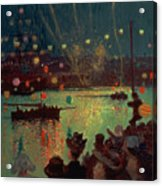 Bastille Day At Lorient Acrylic Print by Henry Moret