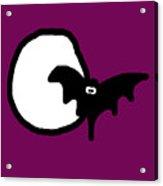 Bat N Moon Acrylic Print by Jera Sky
