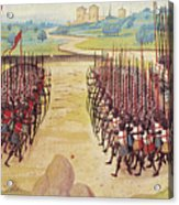 Battle Of Agincourt, 1415 Acrylic Print by Granger