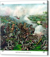Battle Of Five Forks Acrylic Print by War Is Hell Store