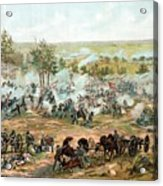 Battle Of Gettysburg Acrylic Print by War Is Hell Store
