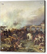 Battle Of Montereau Acrylic Print by Jean Charles Langlois