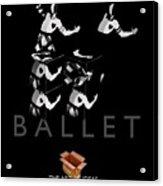 Bauhaus Ballet Black Acrylic Print by Charles Stuart