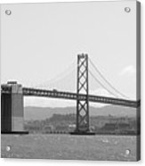 Bay Bridge In Black And White Acrylic Print by Carol Groenen