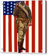 Be A Us Marine Acrylic Print by War Is Hell Store
