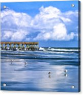 Beach At Isle Of Palms Acrylic Print by Dominic Piperata