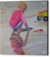 Beach Baby Acrylic Print by Lea Novak