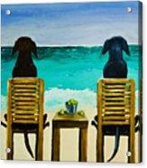 Beach Bums Acrylic Print by Roger Wedegis