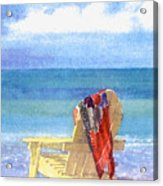 Beach Chair Acrylic Print by Shawn McLoughlin