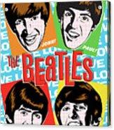 Beatles Pop Art Acrylic Print by Jim Zahniser