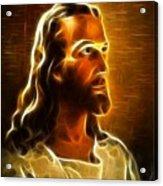 Beautiful Jesus Portrait Acrylic Print by Pamela Johnson