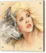 Beauty And The Beast Acrylic Print by Johanna Pieterman