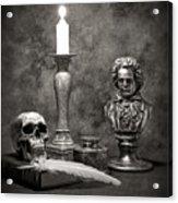 Beethoven Still Life Acrylic Print by Tom Mc Nemar