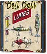 Best Bait Lures Acrylic Print by JQ Licensing