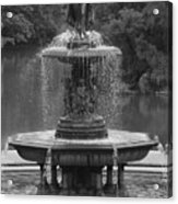 Bethesda Fountain Acrylic Print by Christopher Kirby