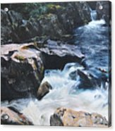 Betws-y-coed Waterfall Acrylic Print by Harry Robertson