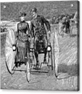 Bicycling, 1886 Acrylic Print by Granger