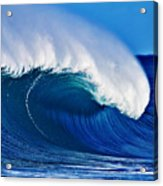 Big Blue Wave Acrylic Print by Paul Topp
