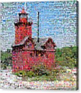 Big Red Photomosaic Acrylic Print by Michelle Calkins