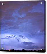 Big Sky With Small Lightning Strikes In The Distance Acrylic Print by James BO  Insogna