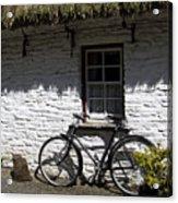 Bike At The Window County Clare Ireland Acrylic Print by Teresa Mucha