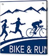Bike Cycle Run Race Acrylic Print by Aloysius Patrimonio