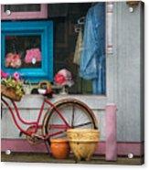 Bike - Lulu's Bike Acrylic Print by Mike Savad