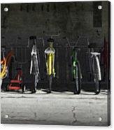 Bike Rack Acrylic Print by Cynthia Decker