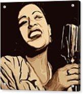 Billie Holiday Acrylic Print by Jeff DOttavio