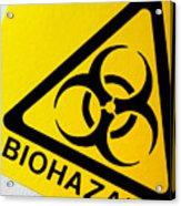 Biohazard Symbol Acrylic Print by Tim Vernon, Nhs Trust