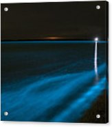 Bioluminescence In Waves Acrylic Print by Philip Hart