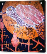Bird On Thistle At Sundown Acrylic Print by Carol Law Conklin