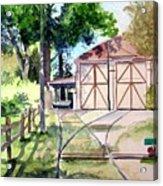 Birney Trolley Barn Acrylic Print by Tom Riggs